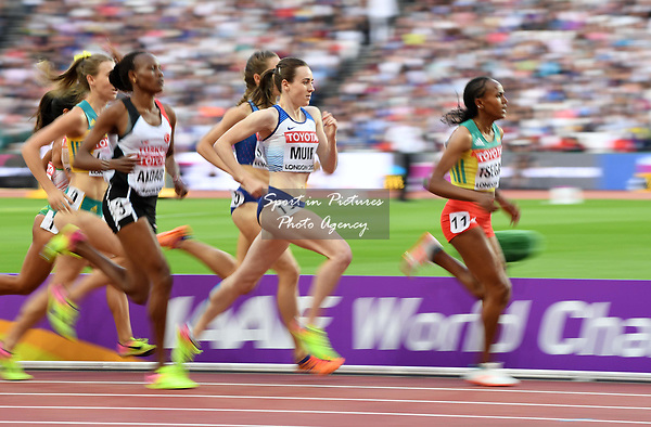Laura Muir (GBR) qualifies in the womens 1500m. IAAF World athletics championships. London Olympic stadium. Queen Elizabeth Olympic park. Stratford. London. UK. 04/08/2017. ~ MANDATORY CREDIT Garry Bowden/SIPPA - NO UNAUTHORISED USE - +44 7837 394578