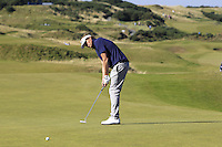 Jan Bengtsson (AM) on the 7th green during Round 1 of the 2015 Alfred Dunhill Links Championship at Kingsbarns in Scotland on 1/10/15.<br /> Picture: Thos Caffrey | Golffile