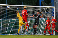 Zulte has an attempt on goal during a female soccer game between FC Femina White Star Woluwe and Dames Zulte Waregem  on the first matchday of the 2020 - 2021 season of Belgian Women's SuperLeague , Friday 28 of August 2020  in Sint Lambrechts Woluwe , Belgium . PHOTO SPORTPIX.BE | SPP | SEVIL OKTEM