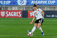 20200304 Faro , Portugal : German defender Lena Sophie Oberdorf (6) pictured during the female football game between the national teams of Germany and Sweden on the first matchday of the Algarve Cup 2020 , a prestigious friendly womensoccer tournament in Portugal , on wednesday 4 th March 2020 in Faro , Portugal . PHOTO SPORTPIX.BE | STIJN AUDOOREN