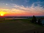 Gierczyce (woj. małopolskie) 21.09.2018. Największa w Polsce prywatna farma fotowoltaiczna.