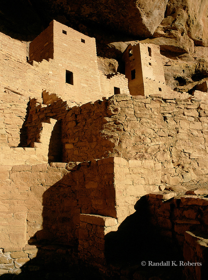 Detail of Cliff Palace, ancient dwellings in Mesa Verde National Park, Colorado, home of Ancestral Pueblo people from 600 A.D. to 1300 A. D.