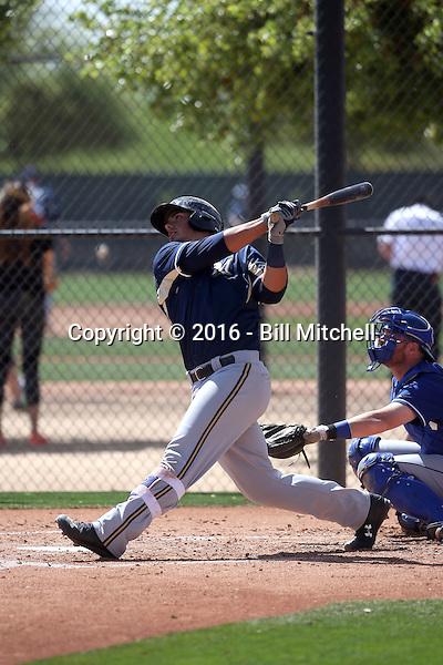 Jacob Nottingham - Milwaukee Brewers 2016 spring training (Bill Mitchell)