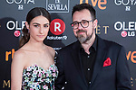 Sandra Escacena and Paco Plaza attends red carpet of Goya Cinema Awards 2018 at Madrid Marriott Auditorium in Madrid , Spain. February 03, 2018. (ALTERPHOTOS/Borja B.Hojas)