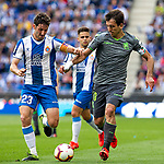 Real Sociedad's Luca Sangalli and RCD Espanyol's Esteban Granero  during La Liga match. May, 18th,2019. (ALTERPHOTOS/Alconada)