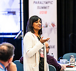 Narmin Ismail-Teja during the CPC Paralympic Summit 2018 at the Palliser Hotel in Calgary, Alberta on November 15, 2018.