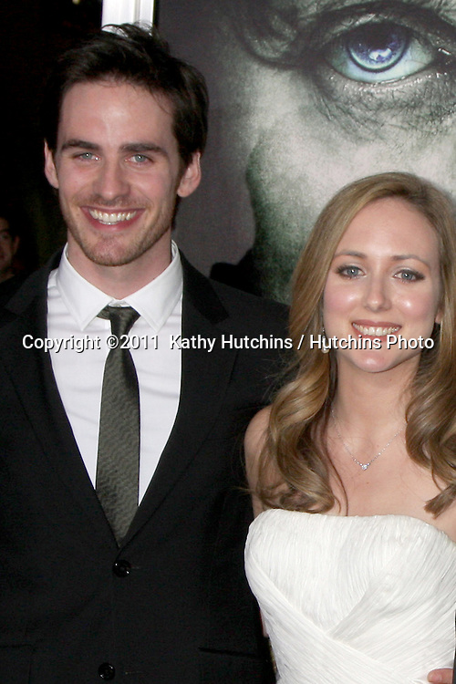 "LOS ANGELES - JAN 26:  Colin O'Donoghue, With his family arrives at ""The Rite"" Premiere at Grauman's Chinese Theater on January 26, 2011 in Los Angeles, CA"
