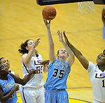 Tulane defeats LSU, 66-64 (OT), in women's basketball at the Pete Maravich Assembly Center on the campus of LSU.