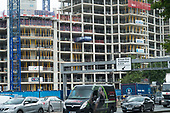 Construction of  the 3.8 acre Paddington Gardens luxury residentiial development between Paddington Basin and the A40 in west London.