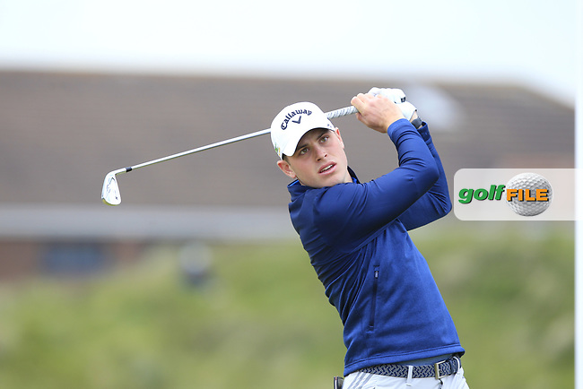Tom Thurloway (Chartham Park) on the 5th tee during Round 1 of the The Amateur Championship 2019 at The Island Golf Club, Co. Dublin on Monday 17th June 2019.<br /> Picture:  Thos Caffrey / Golffile<br /> <br /> All photo usage must carry mandatory copyright credit (© Golffile | Thos Caffrey)