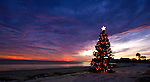 Christmas on the beach at Shell Point, Florida in Wakulla County near the Florida Panhandle town of Crawfordville.