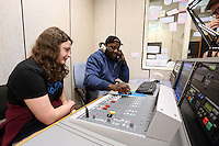 Pictured: Sound recording studio at Trowbridge Campus. Monday 22 September 2014<br /> Re: Cardiff and Vale College.