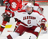 Ryan Grimshaw (Harvard - 6) - The St. Lawrence University Saints defeated the Harvard University Crimson 3-2 on Friday, November 20, 2009, at the Bright Hockey Center in Cambridge, Massachusetts.
