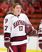 Kaitlin Spurling (Harvard - 17) - The Harvard University Crimson defeated the Boston College Eagles 5-0 in their Beanpot semi-final game on Tuesday, February 2, 2010 at the Bright Hockey Center in Cambridge, Massachusetts.