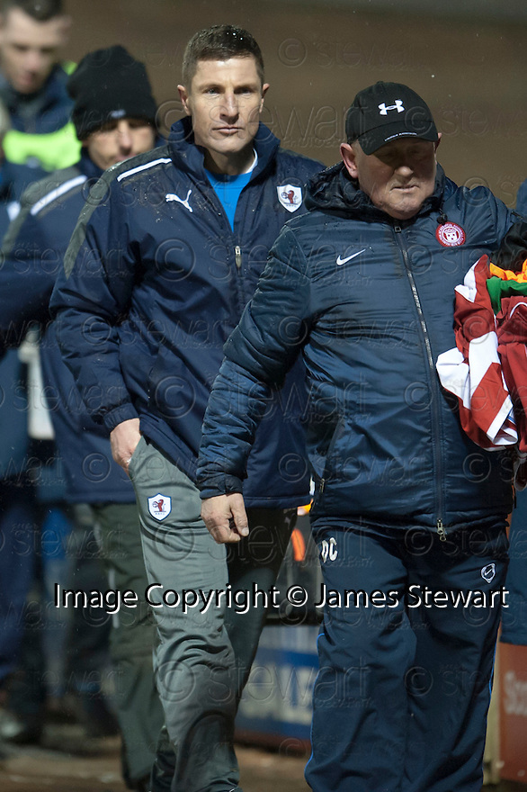 Raith Rovers' manager Grant Murray at the end of the game.