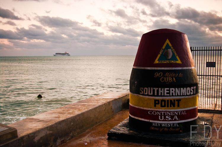 Southernmost point of Continental USA in Key West, Florida.