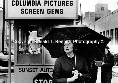Ingrid Bergman in front of Columbia Pictures Los Angeles California Swedish actress won three Academy Awards tow Emmy Awards and Tony Award for Best Actress,