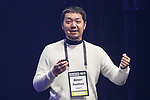 Akinori Fumihara Founder and CEO of Nana Music speaks during the Slush Tokyo 2017 event on March 29, 2017, Tokyo, Japan. The 2 day event features outstanding entrepreneurs sharing their stories and showcasing their products and services in Tokyo Big Sight. (Photo by Rodrigo Reyes Marin/AFLO)