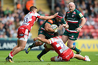Sione Kalamafoni of Leicester Tigers takes on the Gloucester Rugby defence. Aviva Premiership match, between Leicester Tigers and Gloucester Rugby on September 16, 2017 at Welford Road in Leicester, England. Photo by: Patrick Khachfe / JMP