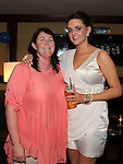 Rebecca Byrne pictured with Linda Shelbourne at her emigration party at the Venue in McHugh's. Photo: www.pressphotos.ie