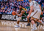 12 March 2019: Binghamton University Bearcat Forward Chancellor Barnard, a Graduate student from Columbia, MD, in action during the America East Semifinal Men's Basketball playoff game against the University of Vermont Catamounts at Patrick Gymnasium in Burlington, Vermont. The top-seeded Catamounts defeated the Bearcats 84-51, ending Binghamton's 2018-2019 season. Mandatory Credit: Ed Wolfstein Photo *** RAW (NEF) Image File Available ***