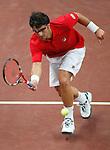 Tennis, Davis Cup, play off.Slovakia Vs. Serbia.Lukas Lacko (SLK)-Janko Tipsarevic (SRB).Janko Tipsarevic.Bratislava, 09.19.2008.Photo: Srdjan Stevanovic.