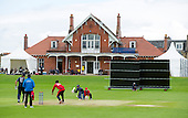 ICC World T20 Qualifier (Warm up match) - Scotland V Jersey at Heriots CC, Edinburgh - match action in front of the Heriots clubhouse - the club was formed in 1899 — credit @ICC/Donald MacLeod - 06.7.15 - 07702 319 738 -clanmacleod@btinternet.com - www.donald-macleod.com