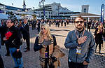 November 3, 2018 : Fans stand for the singing of the National Anthem on Breeders Cup World Championships Saturday at Churchill Downs on November 3, 2018 in Louisville, Kentucky. Scott Serio/Eclipse Sportswire/CSM
