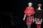 March 19th, 2012: Tokyo, Japan  A model walks down the catwalk wearing SOMARTA during Mercedes-Benz Fashion Week Tokyo 2012 - 13 Autumn/Winter. The Mercedes-Benz Fashion Week Tokyo runs from March 18-24. (Photo by Yumeto Yamazaki/AFLO)