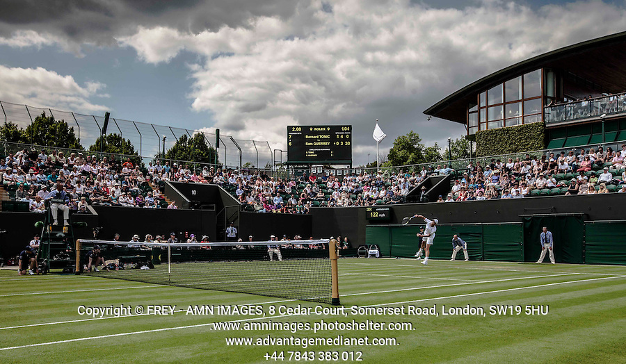 Sam Querrey<br /> <br /> Tennis - The Championships Wimbledon  - Grand Slam -  All England Lawn Tennis Club  2013 -  Wimbledon - London - United Kingdom - Tuesday 25th June  2013. <br /> &copy; AMN Images, 8 Cedar Court, Somerset Road, London, SW19 5HU<br /> Tel - +44 7843383012<br /> mfrey@advantagemedianet.com<br /> www.amnimages.photoshelter.com<br /> www.advantagemedianet.com<br /> www.tennishead.net