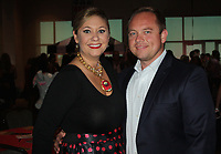 NWA Democrat-Gazette/CARIN SCHOPPMEYER Kara Dearien, Dream Big co-chairwoman, and Will Loan enjoy the fundraiser.