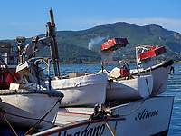 Fischerboote im Hafen Darsena, Portoferraio, Elba, Region Toskana, Provinz Livorno, Italien, Europa<br /> Fishing boats in Port Darsena, Portoferraio, Elba, Region Tuscany, Province Livorno, Italy, Europe