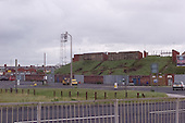 23/06/2000 Blackpool FC Bloomfield Road Ground.Kop viewed from Lonsdale Rd Coach park......© Phill Heywood.
