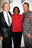 LOS ANGELES - JAN 28: Ken Kragen, Marcia Thomas, Smokey Robinson at the 30th Anniversary of 'We Are The World' at The GRAMMY Museum on January 28, 2015 in Los Angeles, California