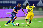 Manchester United winger Antonio Valencia (l) and Borussia Dortmund striker Adrian Ramos (r) during the International Champions Cup China 2016, match between Manchester United vs Borussia  Dortmund on 22 July 2016 held at the Shanghai Stadium in Shanghai, China. Photo by Marcio Machado / Power Sport Images