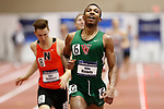NAPERVILLE, IL - MARCH 11: Deko Ricketts of Washington University in Saint Louis smiles after winning the men's 800 meter run at the Division III Men's and Women's Indoor Track and Field Championship held at the Res/Rec Center on the North Central College campus on March 11, 2017 in Naperville, Illinois. (Photo by Steve Woltmann/NCAA Photos via Getty Images)