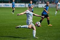 Kansas City, MO - Thursday August 10, 2017: Kristen Hamilton during a regular season National Women's Soccer League (NWSL) match between FC Kansas City and the North Carolina Courage at Children's Mercy Victory Field.