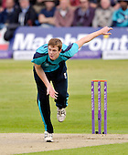 Scotland V England at Mannofield - Aberdeen - One Day International - Scotland bowler Ally Evans - picture by Donald MacLeod - 09.05.14 – 07702 319 738 – clanmacleod@btinternet.com – www.donald-macleod.com
