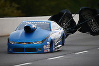 May 15, 2015; Commerce, GA, USA; NHRA pro stock driver Bo Butner during qualifying for the Southern Nationals at Atlanta Dragway. Mandatory Credit: Mark J. Rebilas-USA TODAY Sports