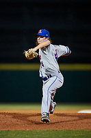 St. Lucie Mets relief pitcher Matt Blackham (24) delivers a pitch during a game against the Florida Fire Frogs on April 19, 2018 at Osceola County Stadium in Kissimmee, Florida.  St. Lucie defeated Florida 3-2.  (Mike Janes/Four Seam Images)