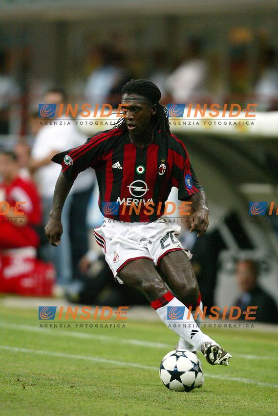 Milano 17/8/2003<br /> Trofeo Berlusconi<br /> Milan - Juventus 0-2<br /> Clarence Seedorf (Milan) <br /> Foto Andrea Staccioli Insidefoto