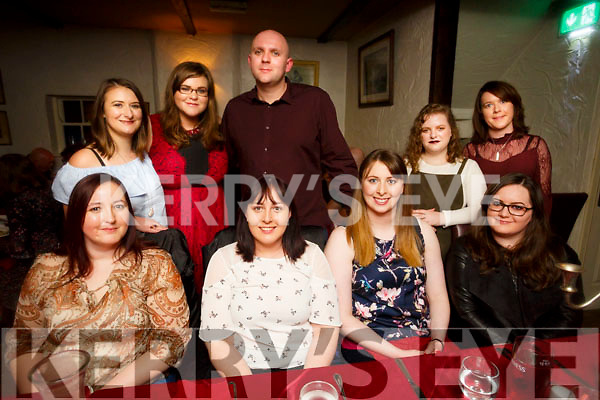 Enjoying a friend together meal at Cassidy's on Saturday Catherine O'Dee, Christina O'Dee, Philomena Knightly, Ciara Kenny, Back l-r Lucy McKenzie, Maria O'Connor, Ken Collins, Saorlaith Foley and Mairead Egan