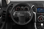 Car pictures of steering wheel view of a 2019 Isuzu D-Max LSX-4wd-crew-cab 5 Door Pick-up Steering Wheel
