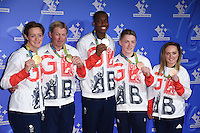 Hannah McLeod, Nick Skelton, Lutalo Muhammad, Nile Wilson and Amy Tinkler<br /> celebrating the winners in this year&rsquo;s National Lottery Awards, the search for the UK&rsquo;s favourite Lottery-funded projects.  The glittering National Lottery Stars show, hosted by John Barrowman, is on BBC One at 10.45pm on Monday 12 September.<br /> <br /> <br /> &copy;Ash Knotek  D3151  09/09/2016