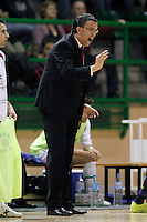 Caja Segovia's coach David Madrid during Spanish National Futsal League match.November 24,2012. (ALTERPHOTOS/Acero) /NortePhoto