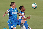 Getafe CF's Raul Garcia Carnero (l) and Atalanta BC's Luis Muriel during friendly match. August 10,2019. (ALTERPHOTOS/Acero)