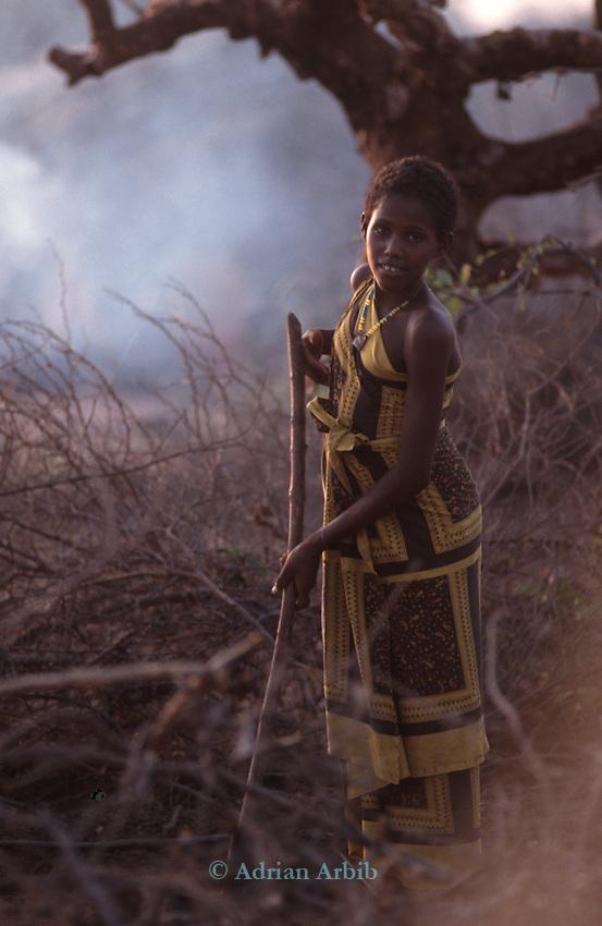 Somali  Girl, Wajir, Somaliland, Kenya