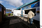 An early customer for the Stadi-Yum food outlet. Oldham v Portsmouth League 1
