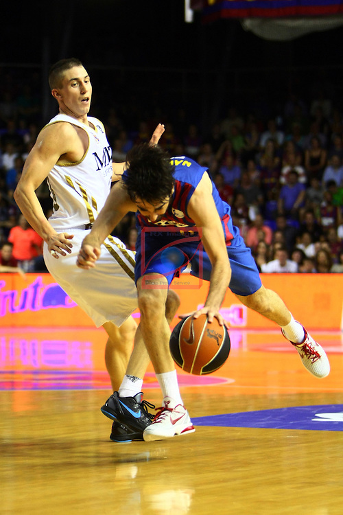 Jaycee Carroll vs Juan Carlos Navarro. FC Barcelona Regal vs R. Madrid: 81-80 - League ACB-Endesa 2011/12 - Game: 43.
