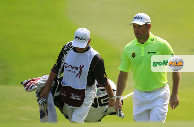 Lee Westwood (ENG) walking onto the 6th green during Round 4 of the CIMB Classic in the Kuala Lumpur Golf &amp; Country Club on Sunday 2nd November 2014.<br /> Picture:  Thos Caffrey / www.golffile.ie